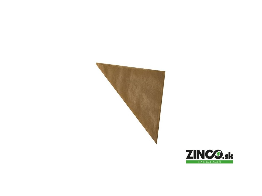 87642 – Papierový kornútok Kraft, 19x19x27 cm
