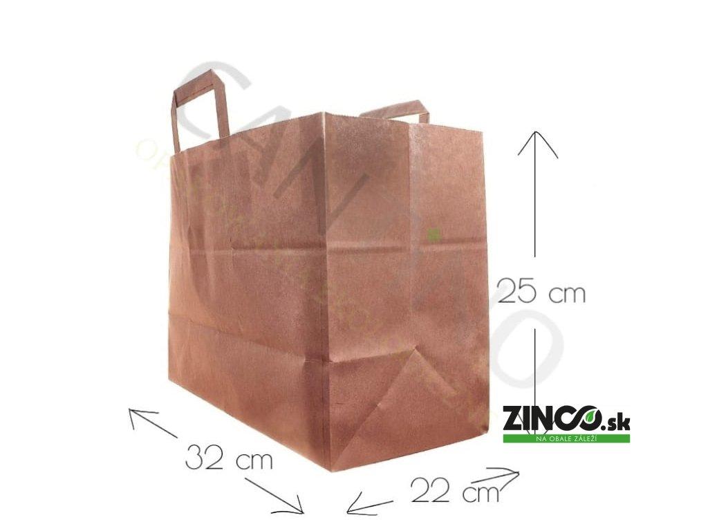 W15CARR – Papierové tašky, 32x22x25 cm (50 ks)