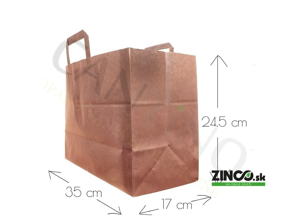 W16CARR – Papierové tašky, 35x17x24,5 cm (50 ks)