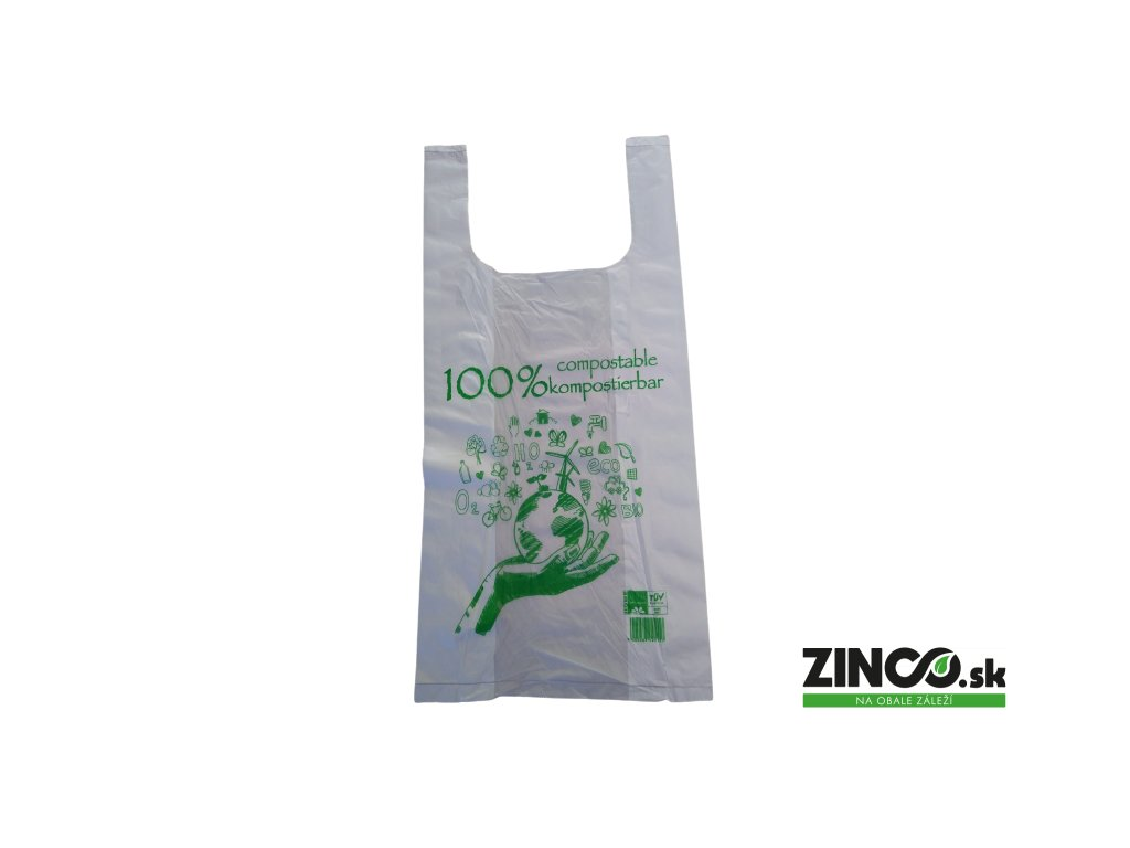 BIO12003 – Bio plastové tašky, 22x46 cm (100 ks)