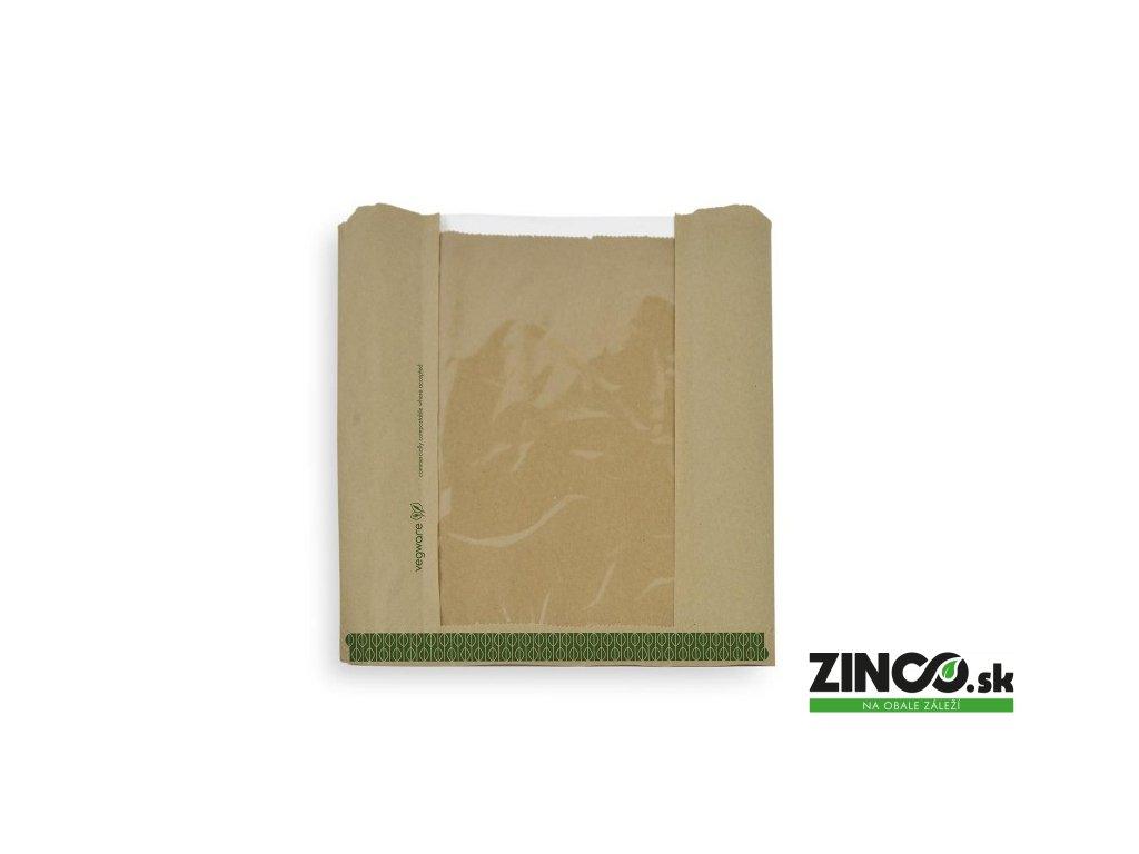 VNWB10 – Papierové vrecko s priehľadným okienkom, 25x25 cm (1000 ks)