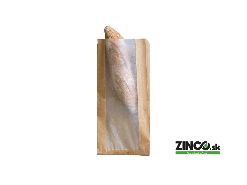 42210 – Papierové vrecko s priehľadným okienkom, 16x8x35 cm (1000 ks)
