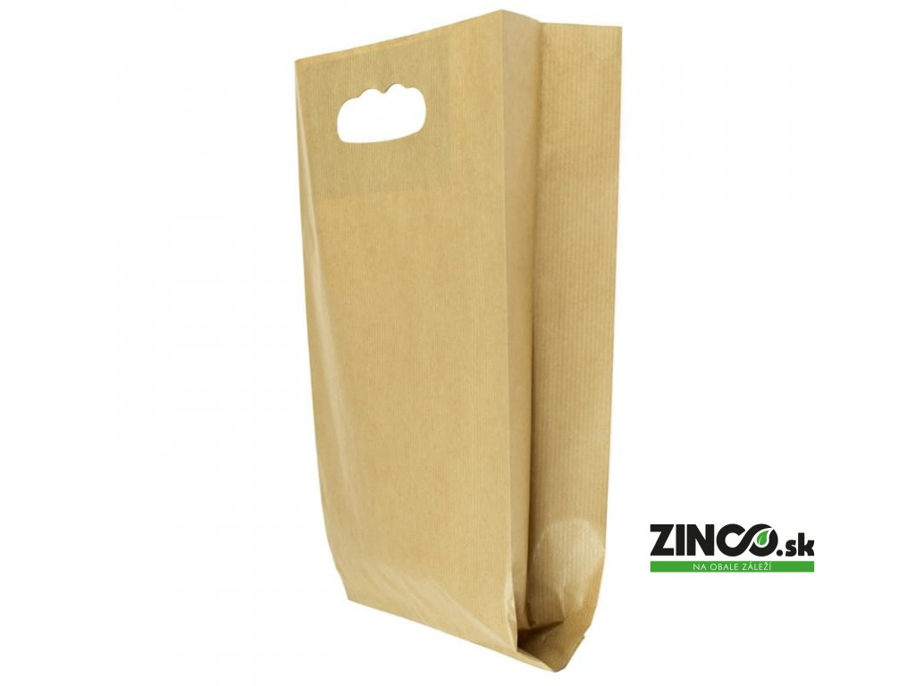 40646 – Papierové vrecká s otvormi na držanie, 15x6,5x27 cm (500 ks)