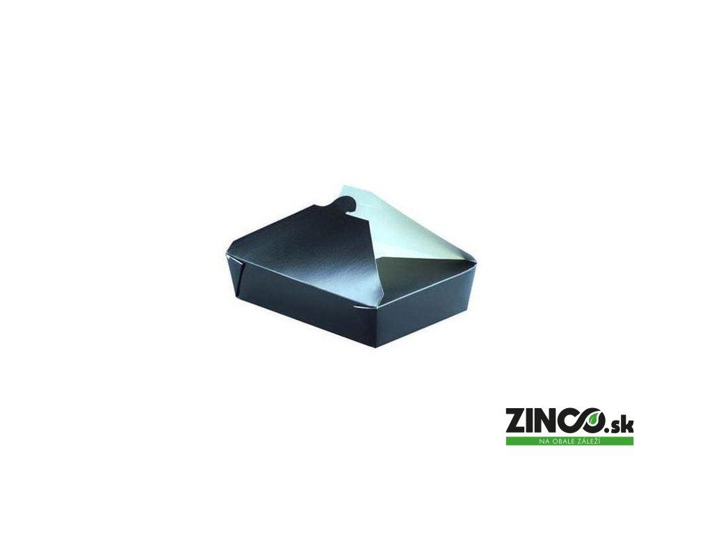 210BIO2N – Krabice na koláče, 21,5x16x5 cm, čierne