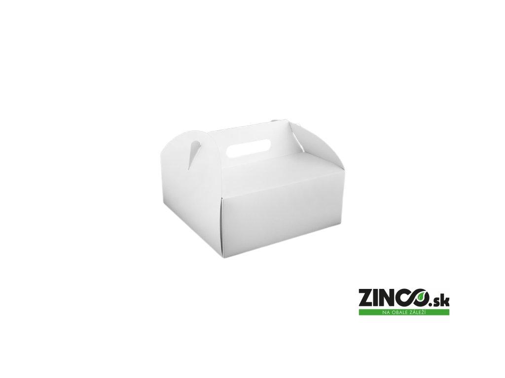 PKU26 – Krabice na tortu s úchytom, 26x26x11 cm
