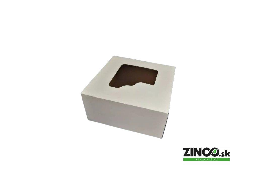 P694 – Krabice na tortu s okienkom, 28x28x13 cm