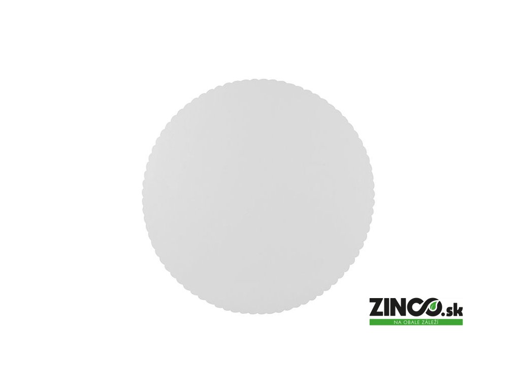 11372 – Biela podložka pod tortu, ø30 cm