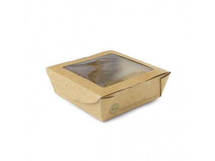 01VWPASTA – Krabice na koláče s okienkom, 12x12x4,5 cm (50 ks)