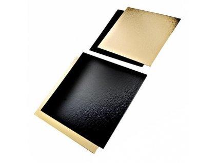 209POR3040 – Zlato-čierna podložka pod tortu, 30x40 cm (50 ks)