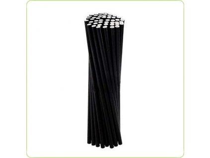 87980 – Papierové slamky čierno-biele, 7mm (250 ks)