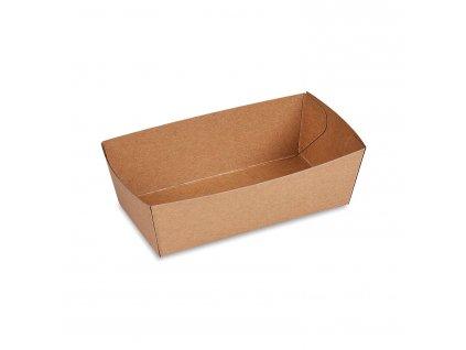 48330 – Papierová miska Kraft, 13,5 x 7 x 4,5 cm, 300 ml