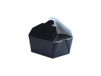 210BIO1N – Krabice na koláče, 13x10,5x6,5 cm, čierne