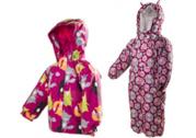 Dětské zimní bundy, kombinézy a overaly