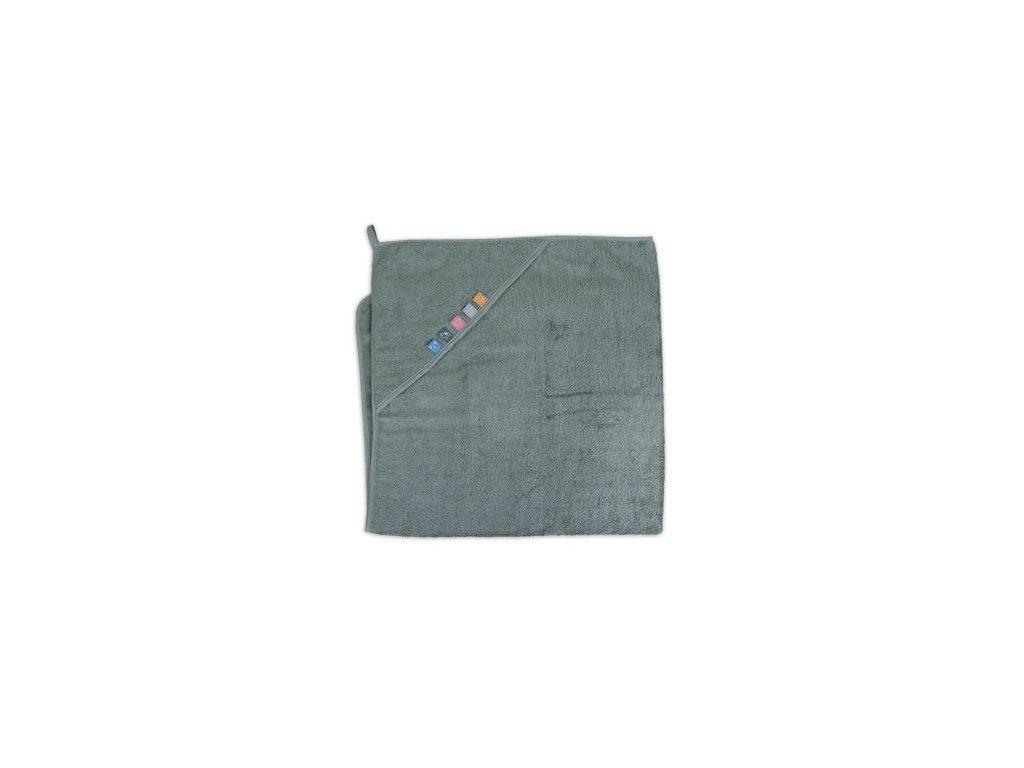 Ceba froté ručník s aplikací a kapuckou LAMA 2021