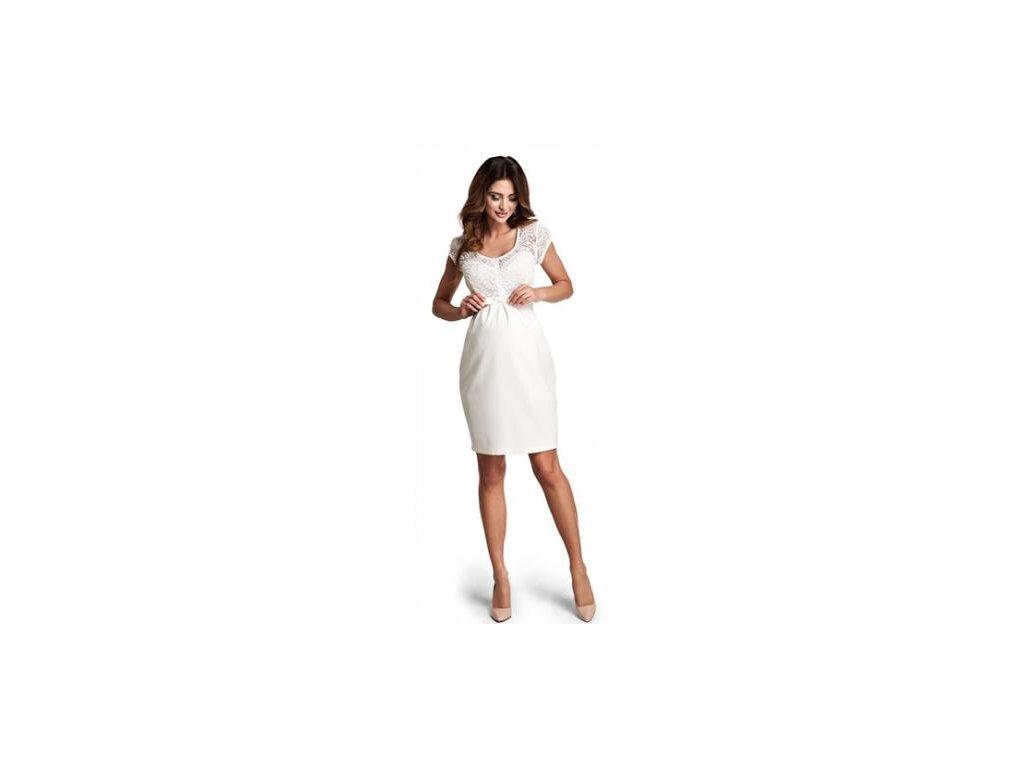 Těhotenské šaty Happymum Magic cream 2021