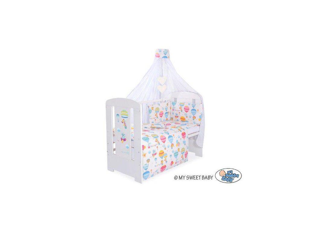 Dětská postýlka kompletní výbava HAPPY > varianta Happy balloons - růžová 2022