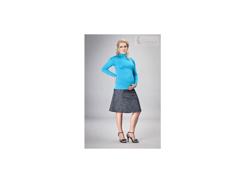 Elegantní těhotenská sukně DENIM - granát 2020