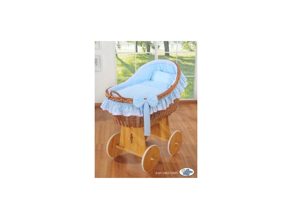 Proutěný koš na miminko MY SWEET BABY kolekce CARINA > varianta modrá 2021