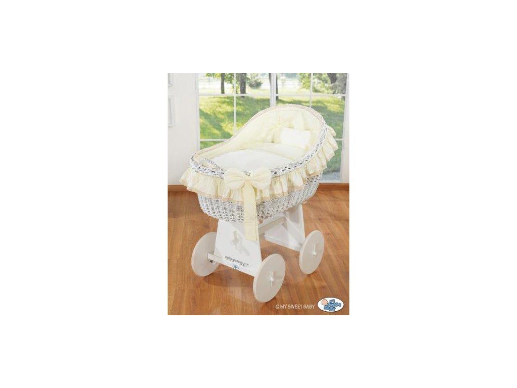 Proutěný koš na miminko bílý MY SWEET BABY kolekce Carina > varianta krémová 72200-823 2022