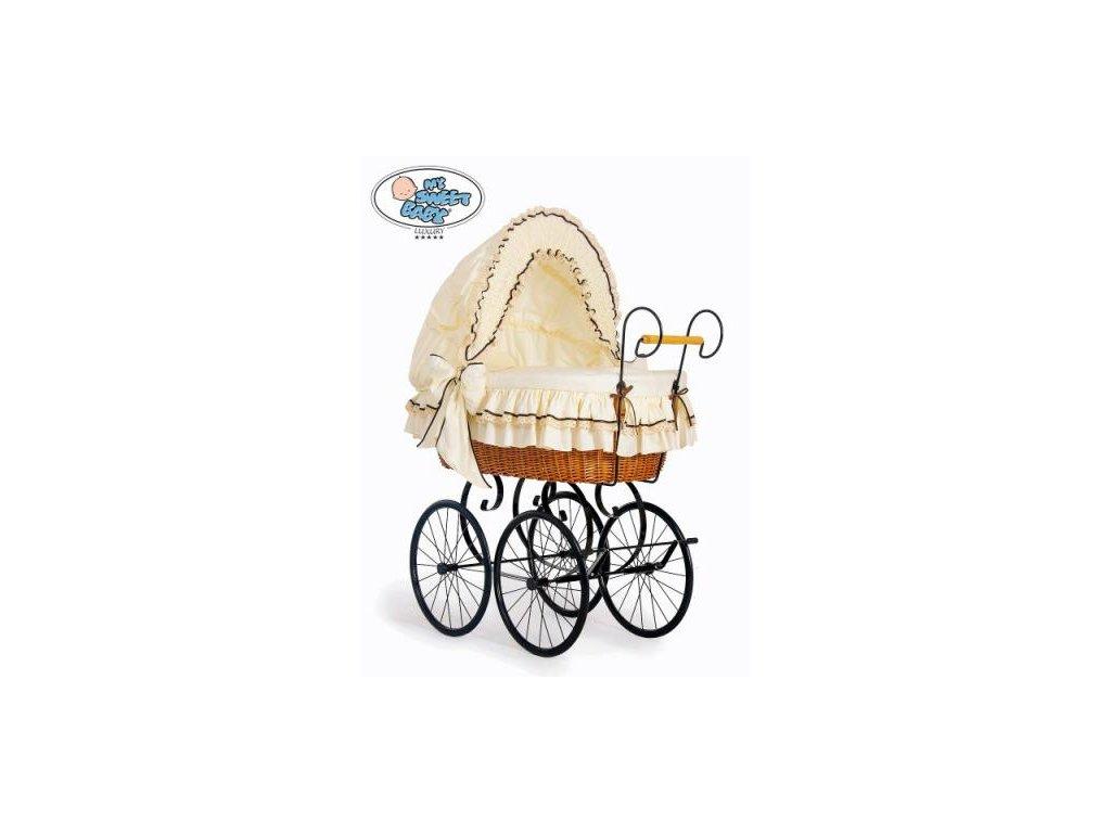Proutěný retro koš na miminko MY SWEET BABY - DOMÁCÍ KOČÁREK > varianta 2100-026 2019