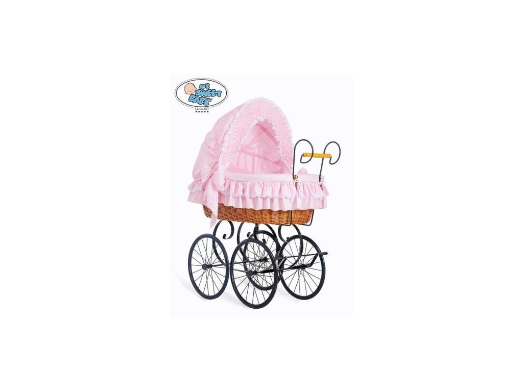Luxusní RETRO koš na miminko MY SWEET BABY - DOMÁCÍ KOČÁREK > varianta 2100-173 2019