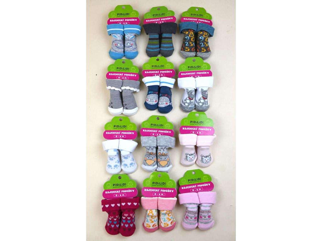 Kojenecké ponožky na kartě Pidilidi PD0107-22 2020