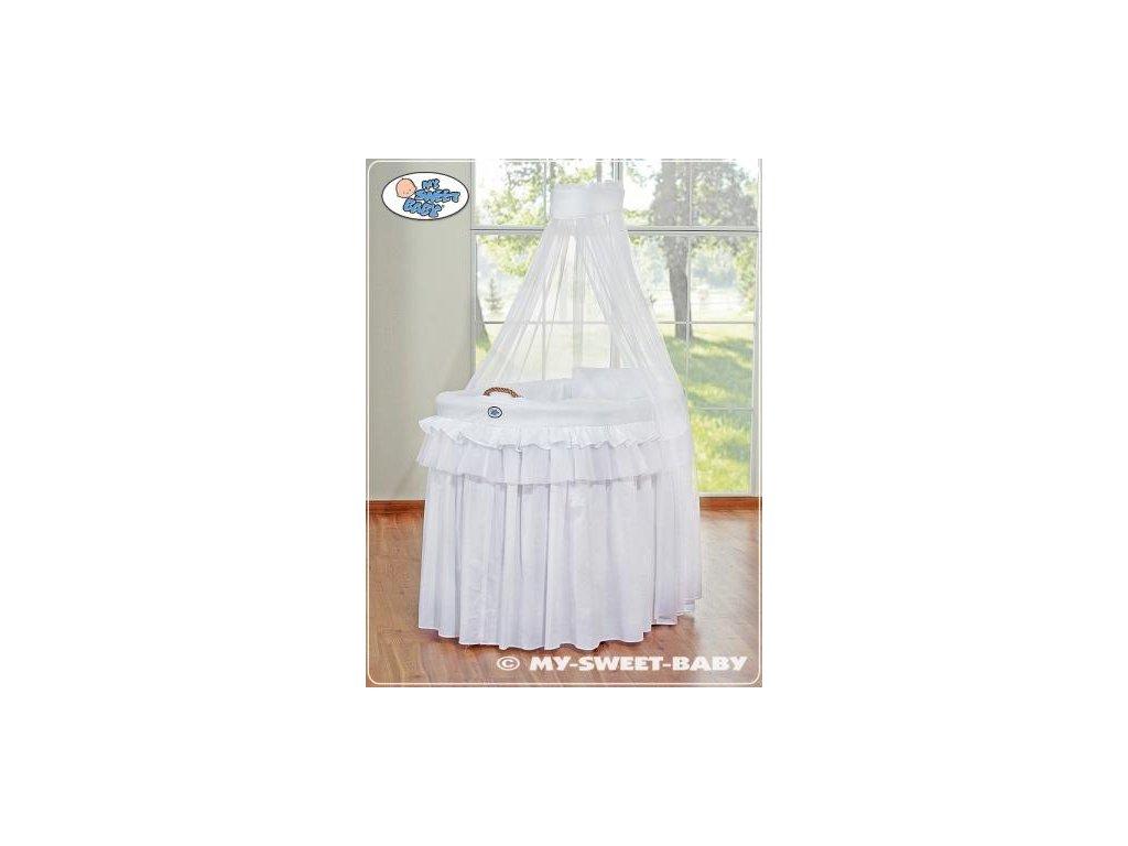 Romantický proutěný koš pro miminko My Sweet Baby KORUNA s nebesy > varianta 92001-300 2022