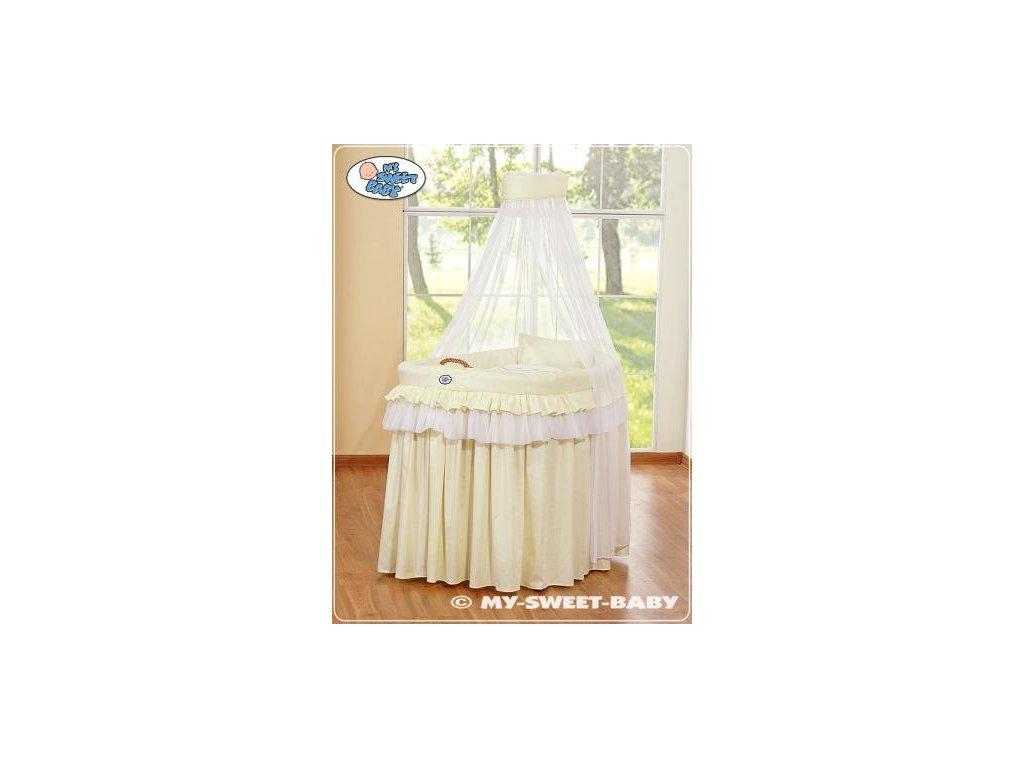 Romantický proutěný koš pro miminko My Sweet Baby KORUNA s nebesy > varianta 92001-301 2022