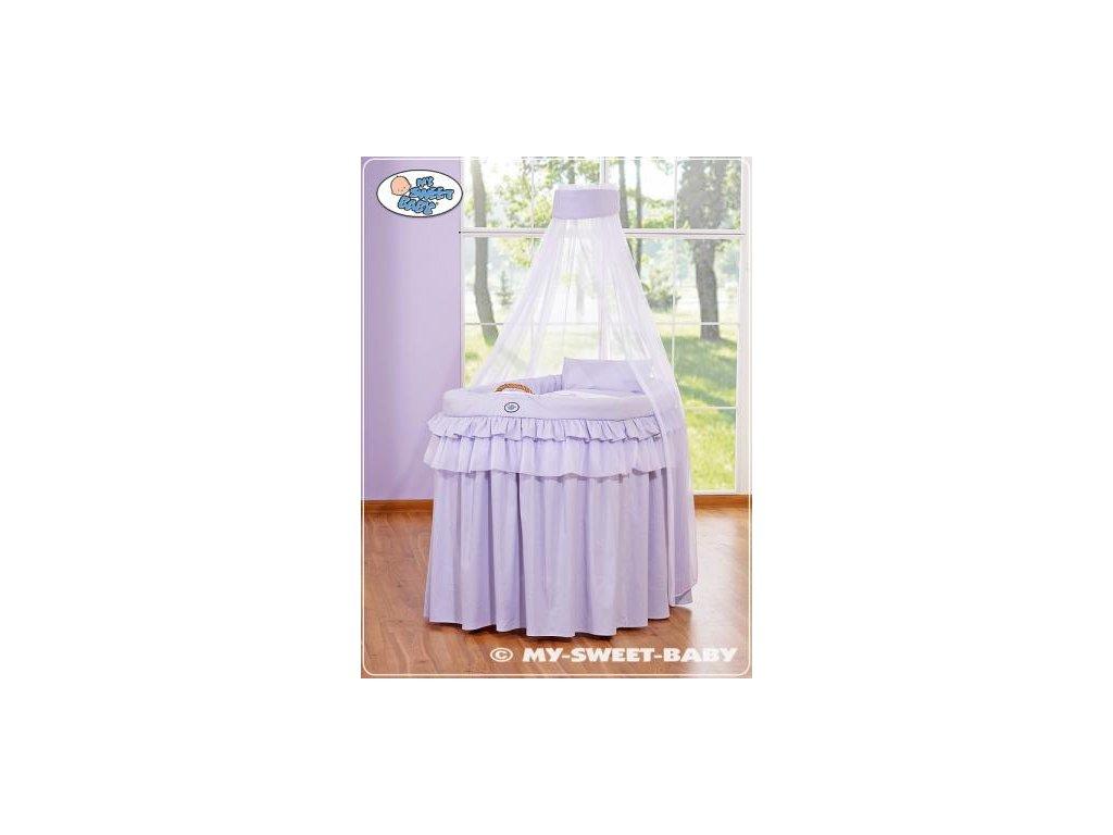 Romantický proutěný koš pro miminko My Sweet Baby KORUNA s nebesy > varianta 92001-304 2021