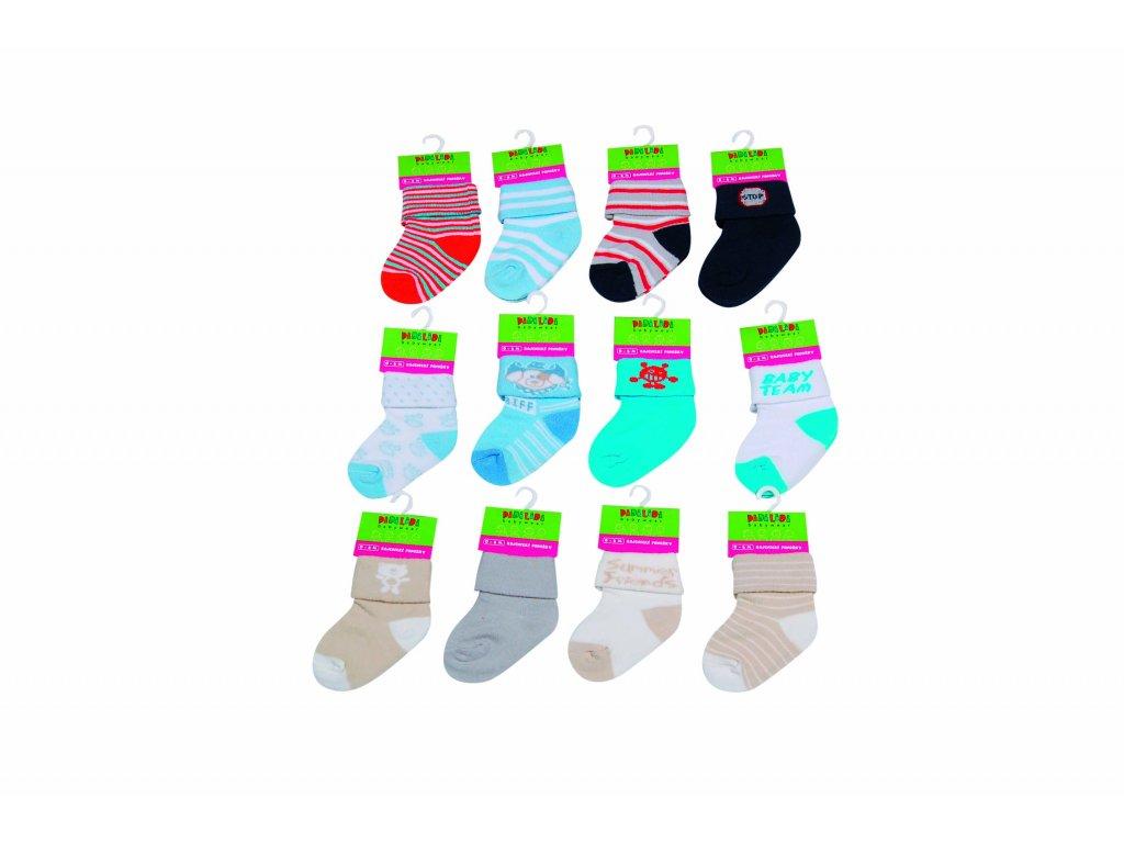 Kojenecké ponožky na kartě Pidilidi PD0501-02 2018