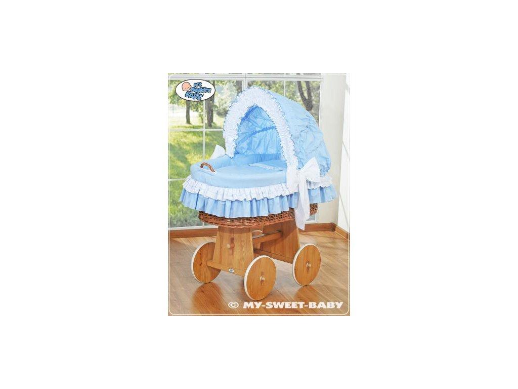 Luxusní proutěný koš na miminko s kompletní výbavou My Sweet Baby > varianta 58962-109 2019