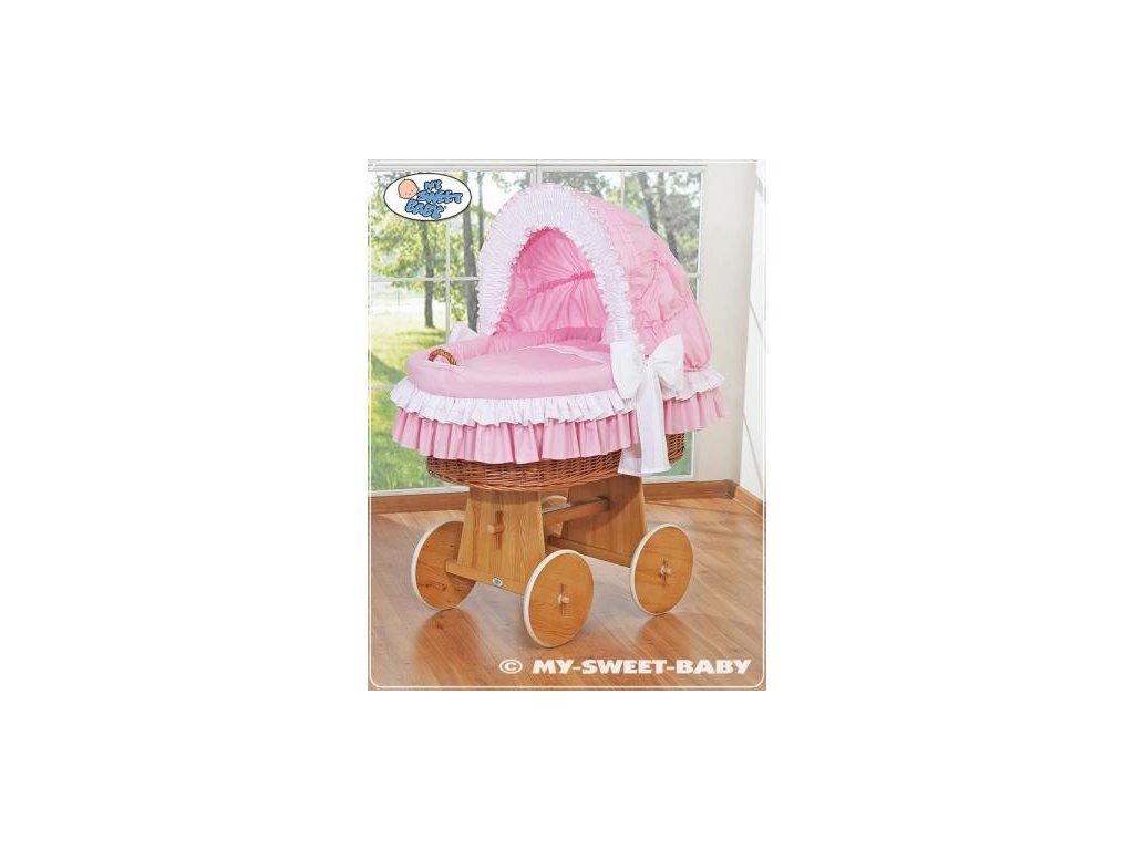 Luxusní proutěný koš na miminko s kompletní výbavou My Sweet Baby > varianta 58962-119 2019