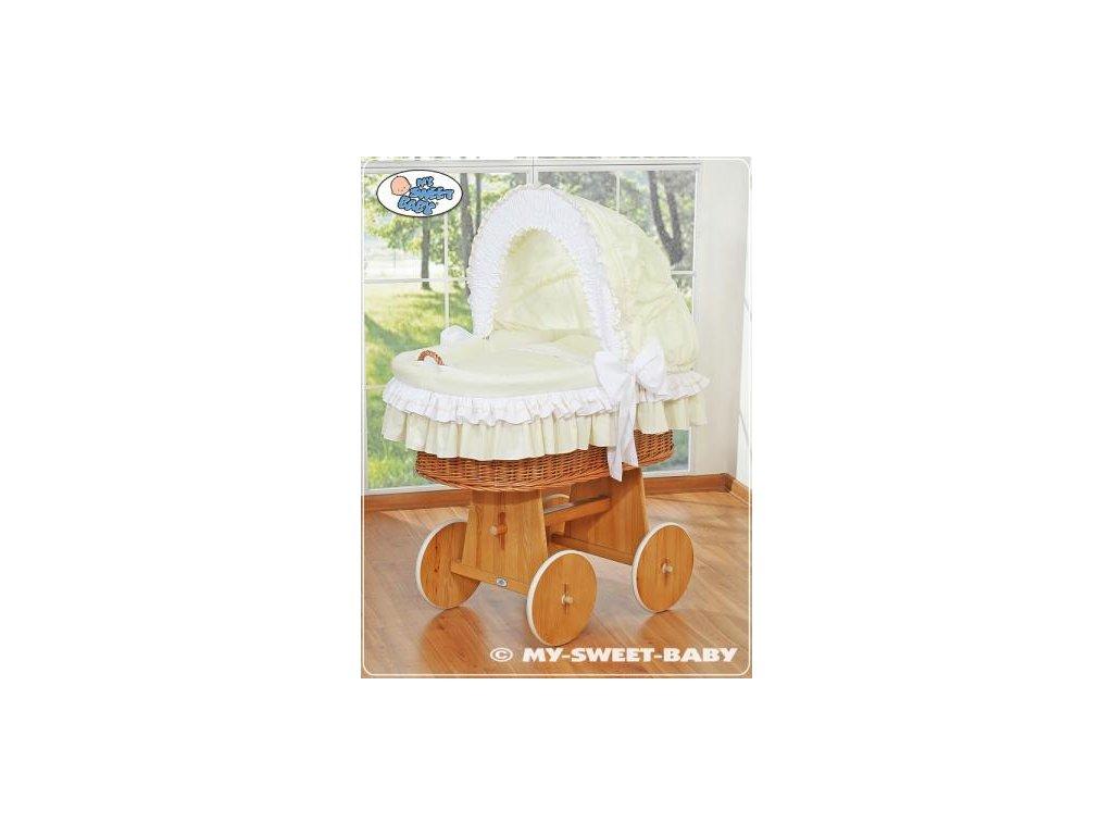 Luxusní proutěný koš na miminko s kompletní výbavou My Sweet Baby > varianta 58962-135 2022