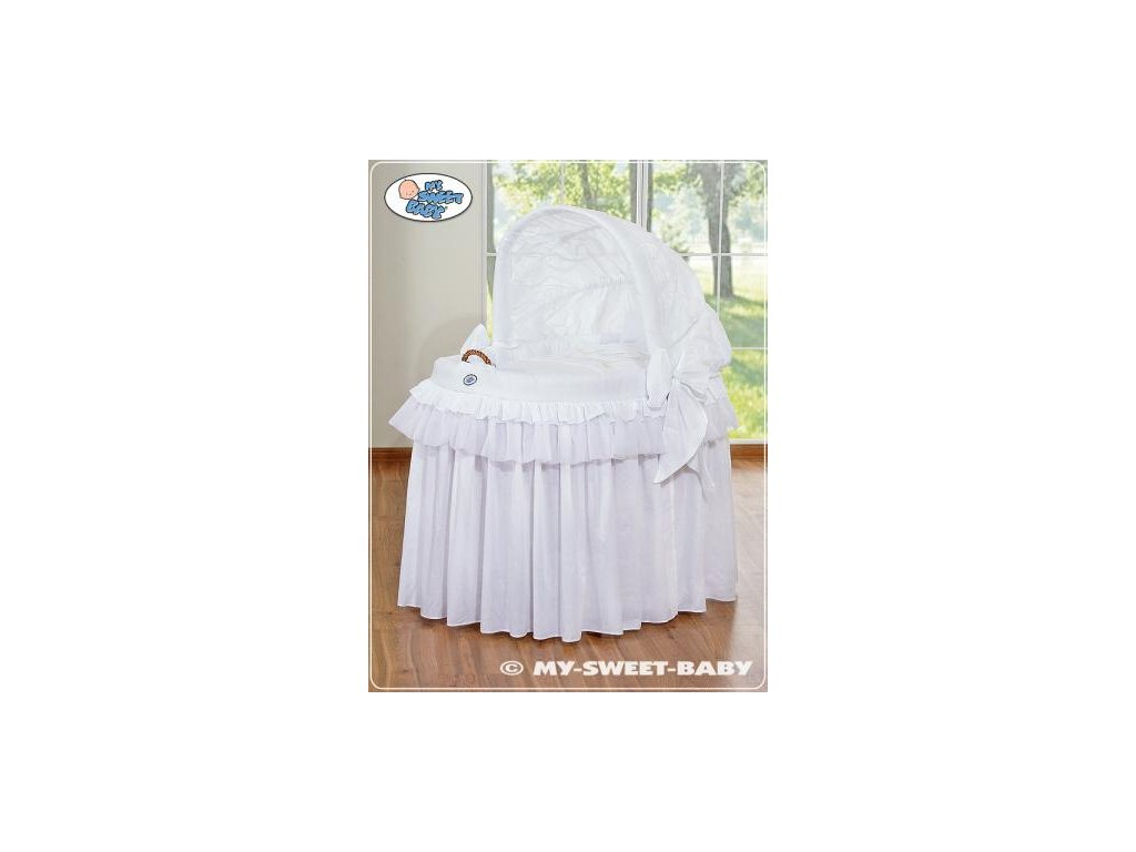 Romantický proutěný koš pro miminko My Sweet Baby KORUNA s boudou > varianta 92114-300 2022