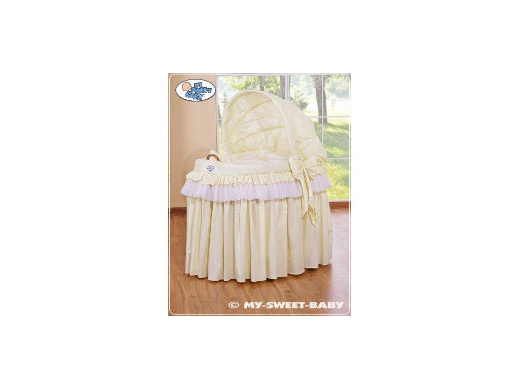 Romantický proutěný koš pro miminko My Sweet Baby KORUNA s boudou > varianta 92114-301 2022