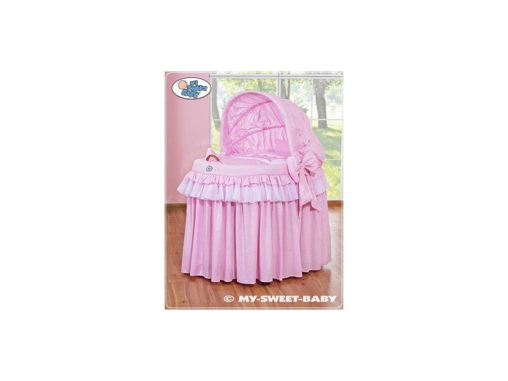 Romantický proutěný koš pro miminko My Sweet Baby KORUNA s boudou > varianta 92114-302 2019