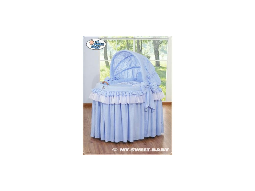 Romantický proutěný koš pro miminko My Sweet Baby KORUNA s boudou > varianta 92114-305 2022