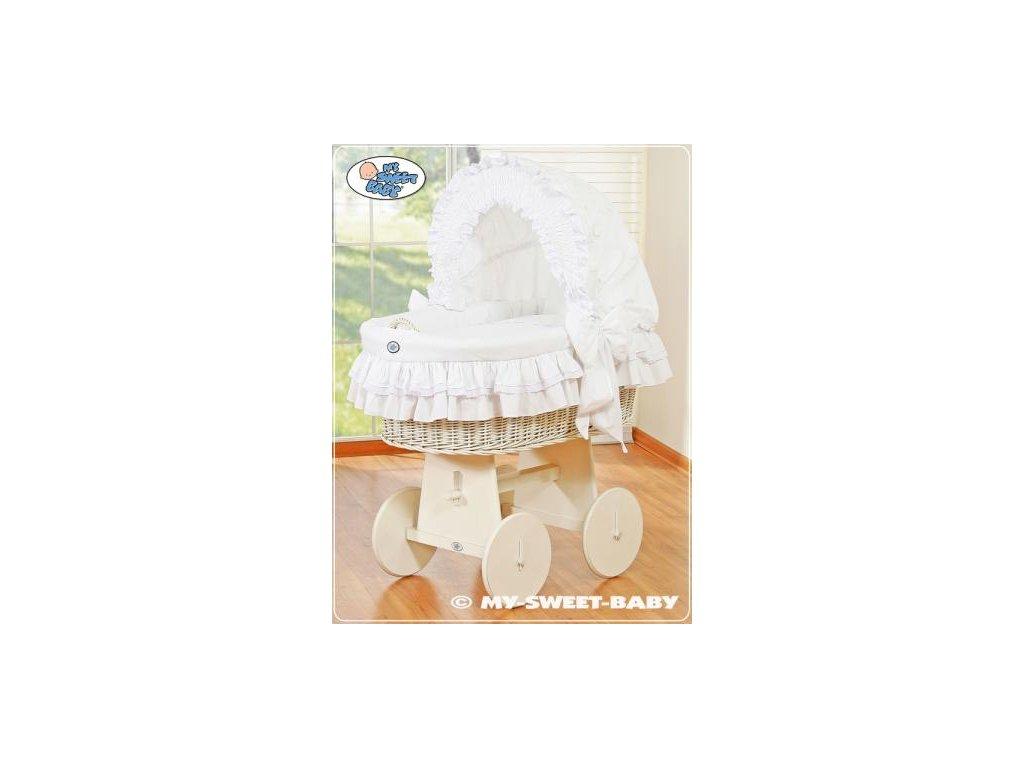 Proutěný koš BÍLÝ na miminko My Sweet Baby - DOMÁCÍ LUXUSNÍ KOČÁREK > varianta 78962-102 2021