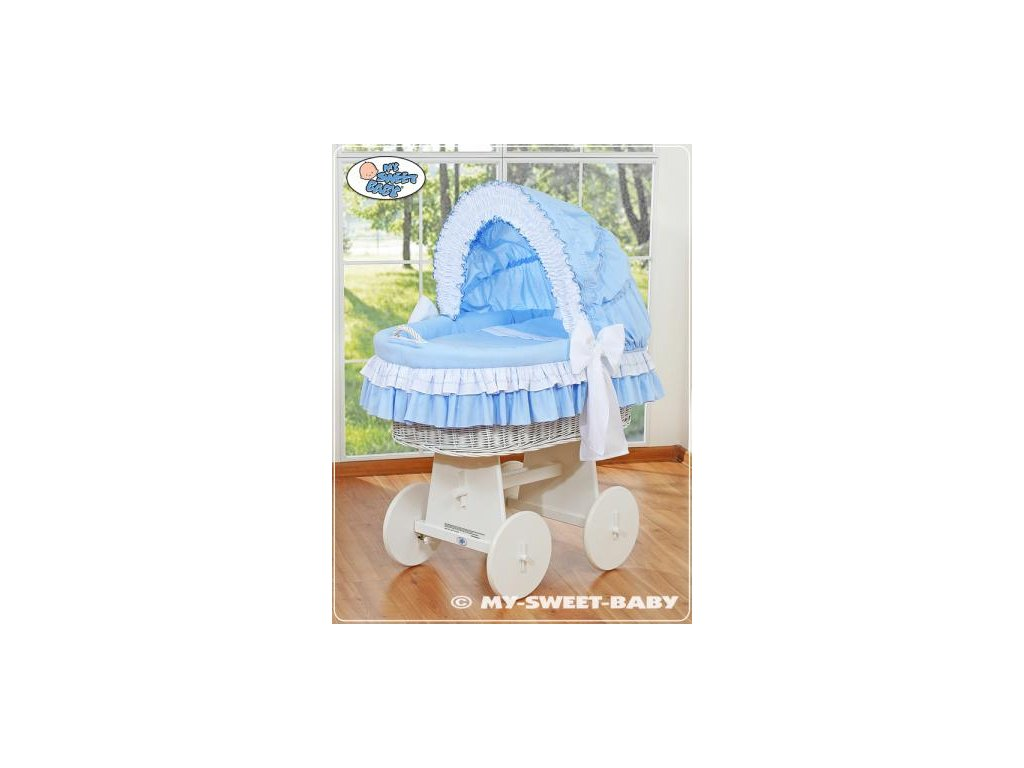 Proutěný koš BÍLÝ na miminko My Sweet Baby - DOMÁCÍ LUXUSNÍ KOČÁREK > varianta 78962-109 2021