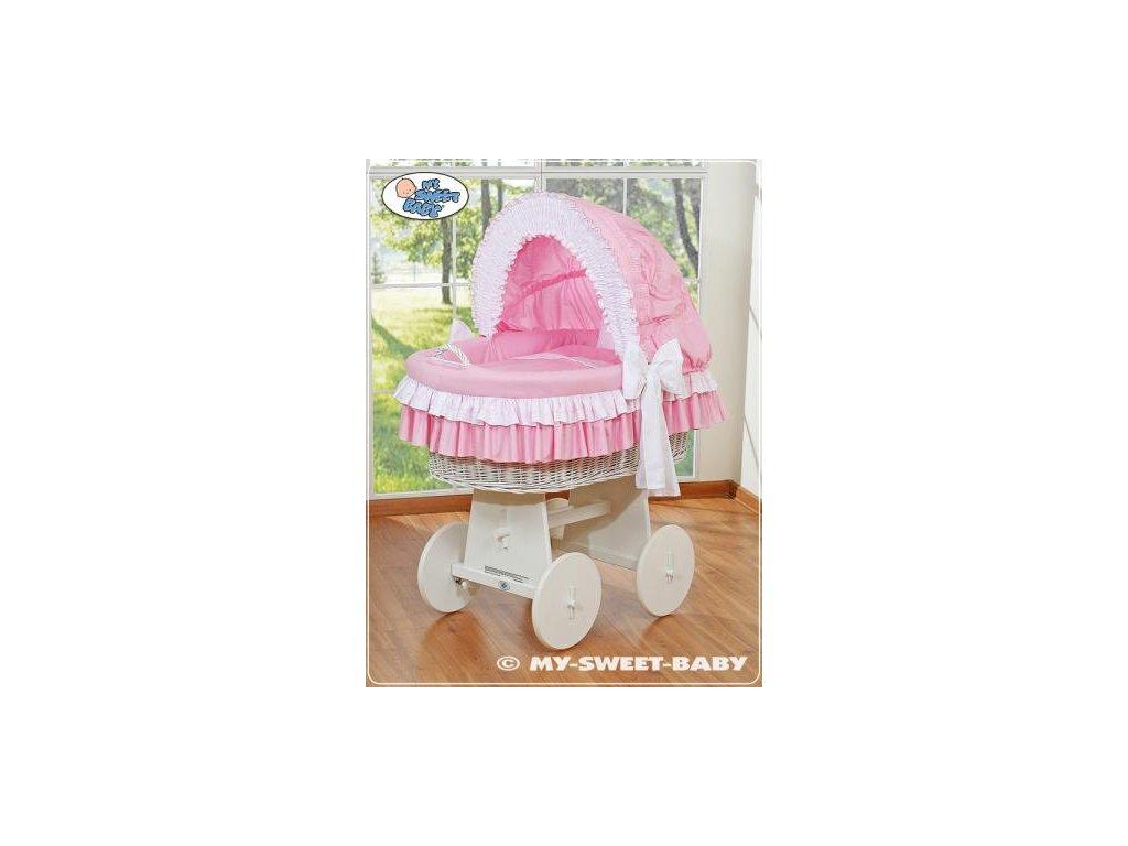 Proutěný koš BÍLÝ na miminko My Sweet Baby - DOMÁCÍ LUXUSNÍ KOČÁREK > varianta 78962-119 2022