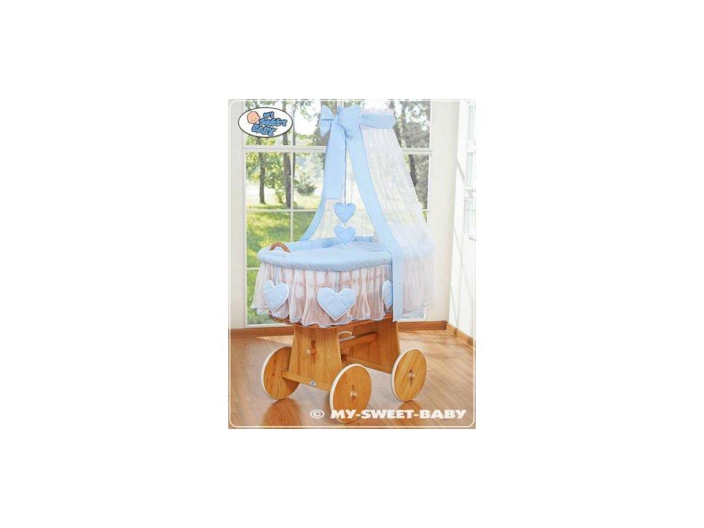 Proutěný koš na miminko My Sweet Baby SRDÍČKA - DOMÁCÍ LUXUSNÍ KOČÁREK > varianta 59582-134 2021