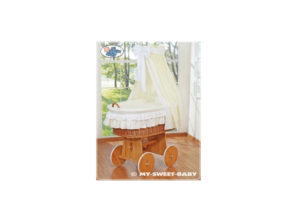 Proutěný koš na miminko My Sweet Baby - DOMÁCÍ LUXUSNÍ KOČÁREK > varianta 59582-135 2019