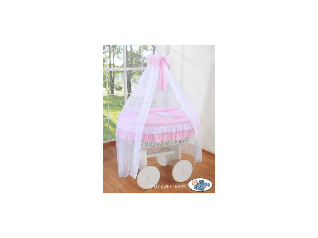 Proutěný koš na miminko bílý My Sweet Baby Deluxe BELLAMY > varianta 72107-119 2022