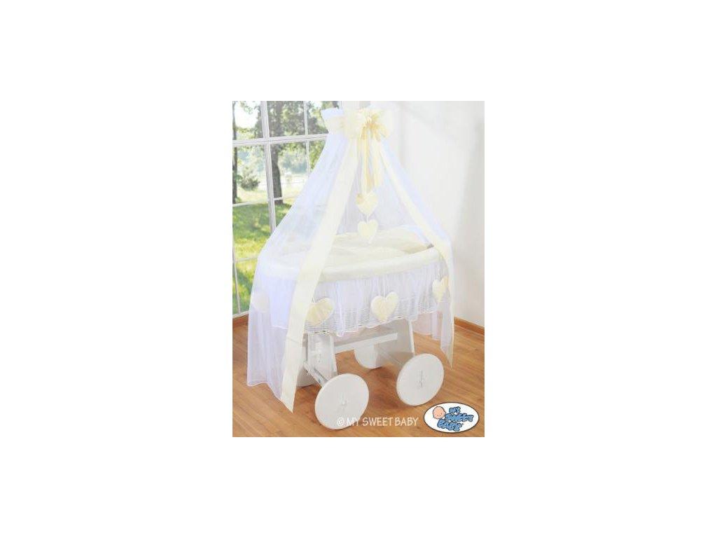 Proutěný koš na miminko bílý My Sweet Baby Deluxe AMELIE > varianta 72107-142 2022