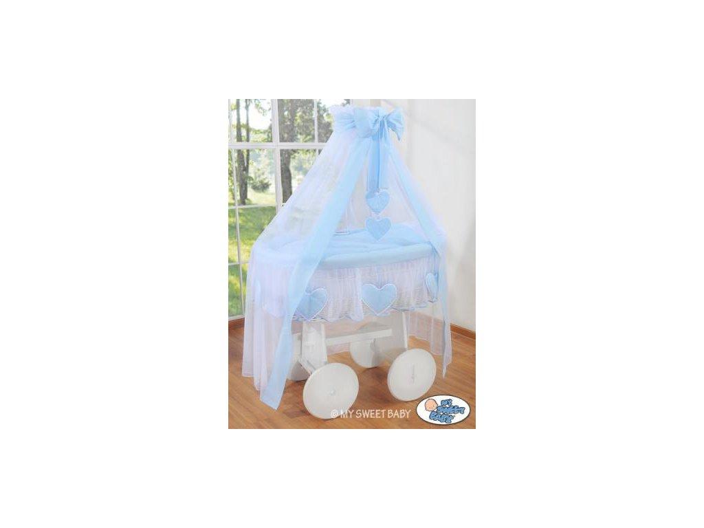 Proutěný koš na miminko bílý My Sweet Baby Deluxe AMELIE > varianta 72107-134 2022