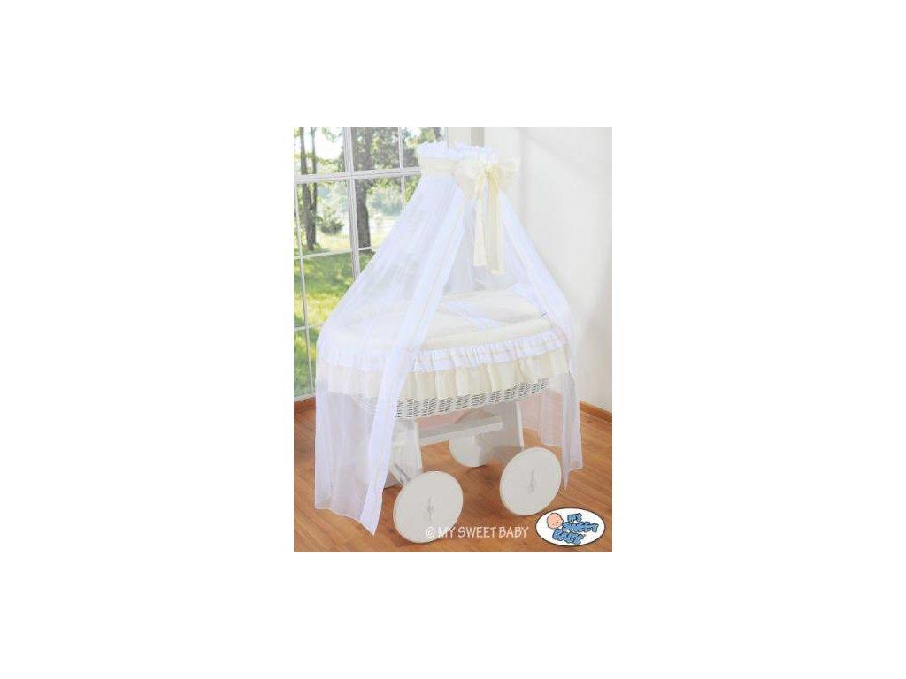 Proutěný koš na miminko bílý My Sweet Baby Deluxe BELLAMY > varianta 72107-135 2022