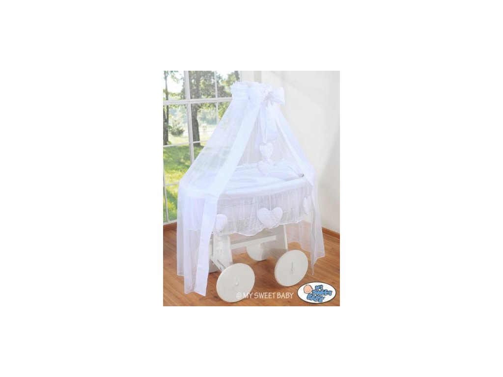 Proutěný koš na miminko bílý My Sweet Baby Deluxe AMELIE > varianta 72107-123 2021