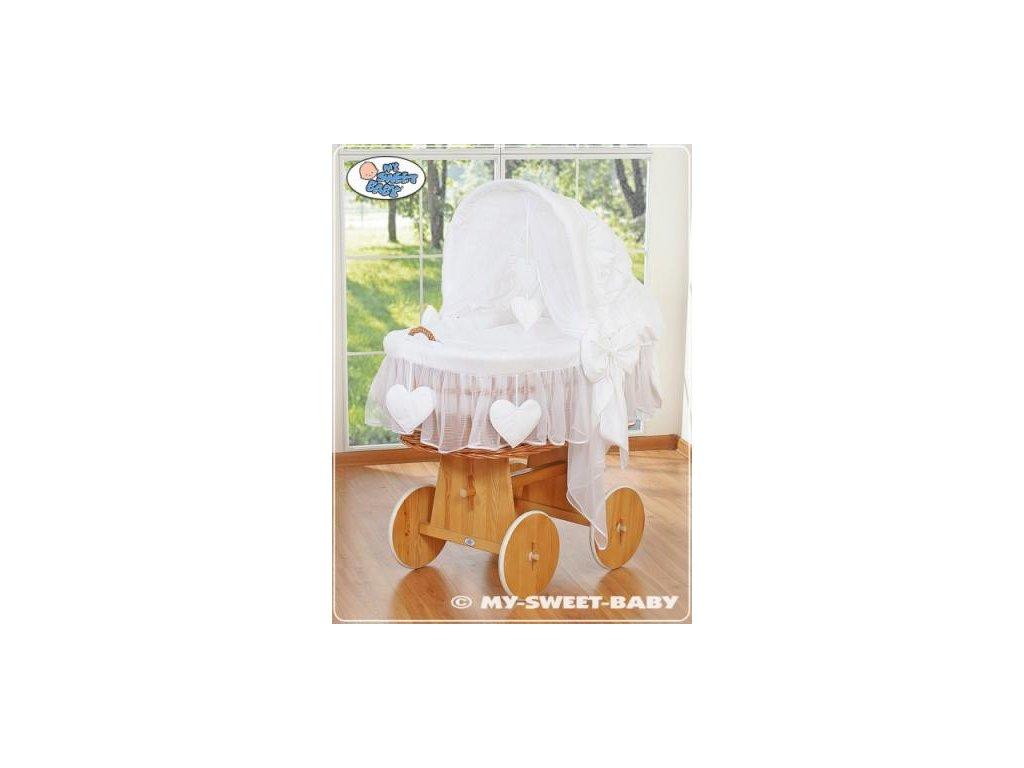 Proutěný maxi koš pro miminko My Sweet Baby SRDÍČKA > varianta 58962-123 2022