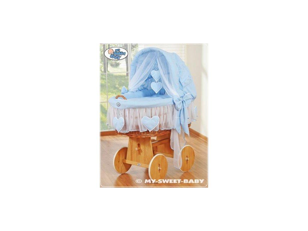 Proutěný maxi koš pro miminko My Sweet Baby SRDÍČKA > varianta 58962-134 2019