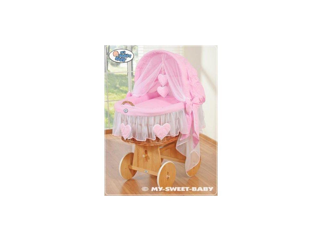 Proutěný maxi koš pro miminko My Sweet Baby SRDÍČKA > varianta 58962-122 2021